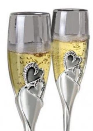 wedding gifts custom champagne flutes