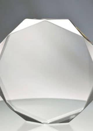 clear acrylic octagon awards