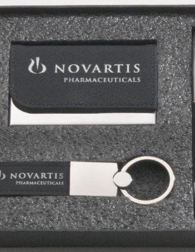 Black Leather Gift Set