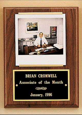 employee of the month appreciation plaques