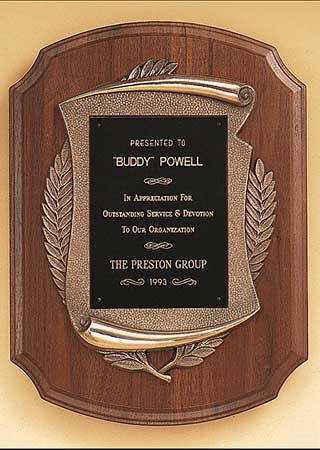 Corporate recognition plaques